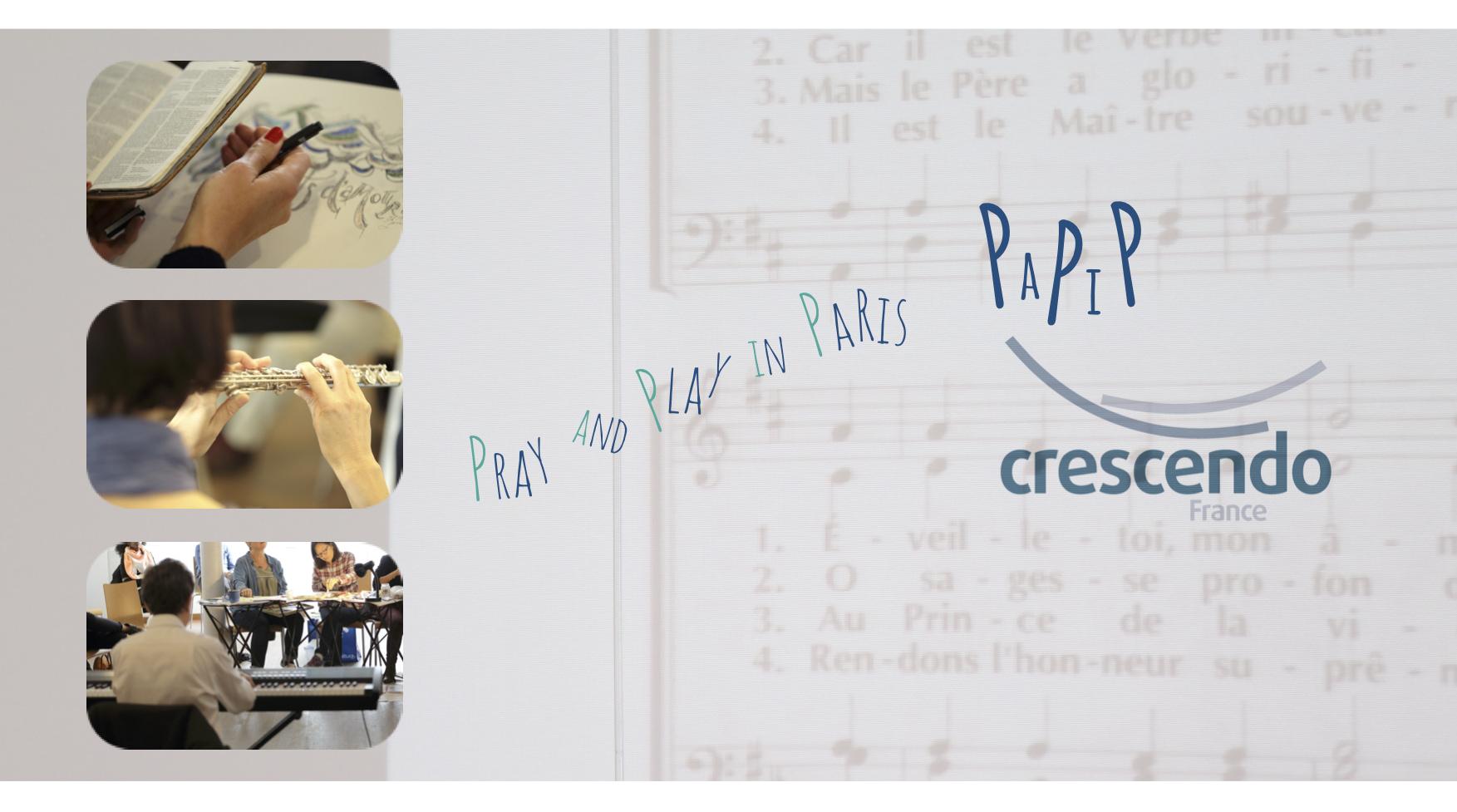 L'équipe de Crescendo France vous présente ses meilleurs vœux pour 2019 et vous invite à notre prochaine rencontre : Samedi 19 janvier 2019 de 10h à 12h Play and Pray au Pavé d'Orsay, 48, rue de Lille 75007 Paris Café d'accueil à partir de 9h30. Si vous ne pouvez pas participer à notre rencontre, n'hésitez-pas à nous faire parvenir vos éventuels sujets de prière. Ainsi, nous serons unis malgré la distance. Venez avec ou sans instrument, un piano numérique est à votre disposition sur place. Au programme : Prière, Louange, Musique classique et jazz, improvisées ou pas, et également Peinture, Poésie...